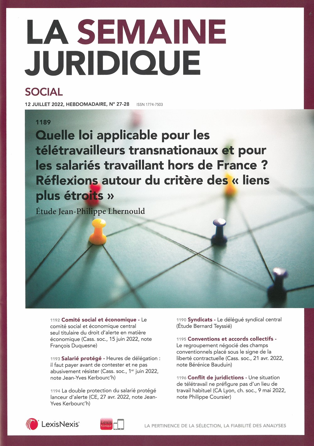Droit Social Reglementations Legislations Lois Jurisprudence