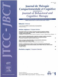 Journal of Behavioral and Cognitive Therapy