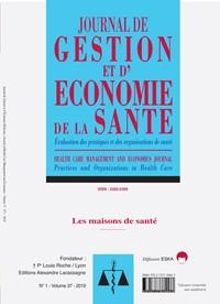 Journal de Gestion et d'Economie de la Santé