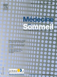 Médecine du Sommeil